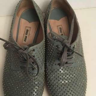 Authentic Miu Miu Studded Shoes size 6:5