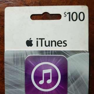 Apple iTunes $100 Card