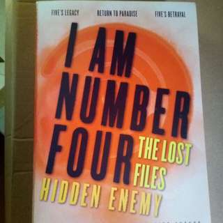 I Am Number Four. The Lost Files: Hidden Enemy Autographed / Signed by Pittacus Lore