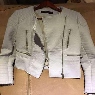 Zara jacket.   Baby blue.  Never used