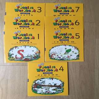 Jolly Phonics Workbooks 1-7 Full set