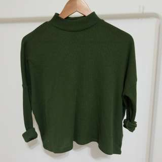 Army Green Turtleneck Longsleeve XS
