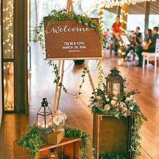 Affordable wedding rental / flower / event / unique setup