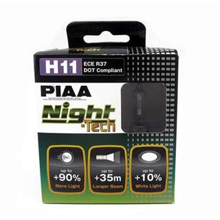 PIAA H11 ECE R37 Night-Tech DOT Compliant Set of 2
