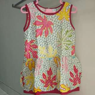 Batik CNY girl dress imlek sincia