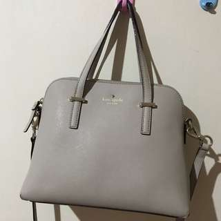 Repriced!! Kate spade grey bag 100% ori & authentic