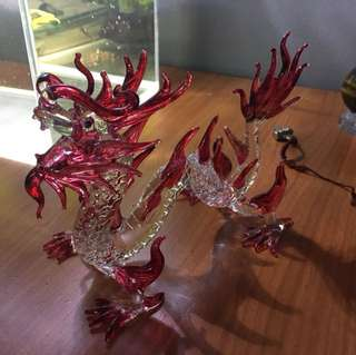 Dragon glass figurine