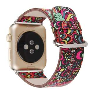 Strap Watch Apple 42mm Flower Prints Vintage Floral National Folk