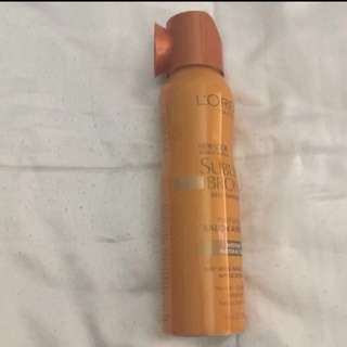 Fake tan spray