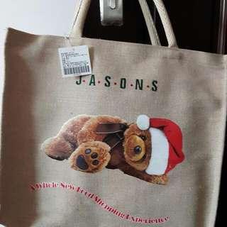 聖誕熊手提袋