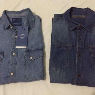 Paket Borongan Kemeja Denim Flanel Polo Shirt