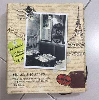 Note book with Europe inspired pages