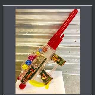 70年代,日本製玩具長槍,透明多色彩,多零件,經典,得意珍藏版,410mm長度