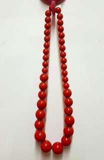 🚚 紅色珠珠項鍊