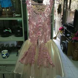 Pink Cocktail Dress with pearls