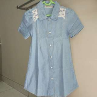 Dress jeans girl perempuan