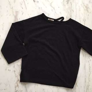 Zara Black Sweater Top