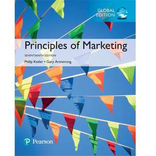 Pearson Principles of Marketing Global Edition 17th Edition BY Gary Armstrong Philip T. Kotler