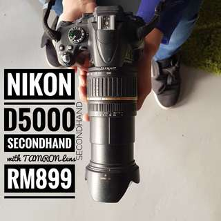 NIKON D5000 with TAMRON Lens (Tamron AF 18-200mm F3.5-6.3XR Di II LD Aspherical (IF) Macro) secondhand