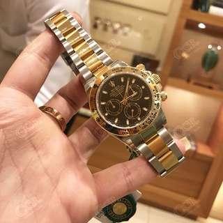 【 CCR 】勞力士Rolex 迪通拿 116503 間金黑盤