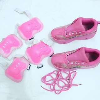Sepatu Roda Frozen Pink