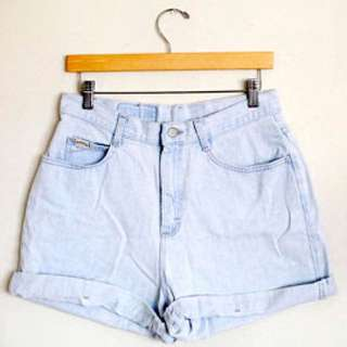 Denim high waisted shorts