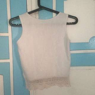 Embroided sleeveless top