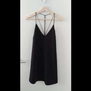 Strappy Loose Flowy Black Dress