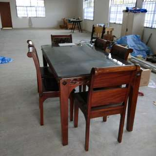 6 Seater Dining Table (Solid Wood)