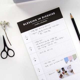 Blessing In Disguise Weekly Scheduler