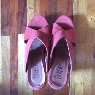 Little Things She Needs - Maroon Suede Wedges