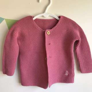 Bonds Pink Knitted Jumper - Size 1
