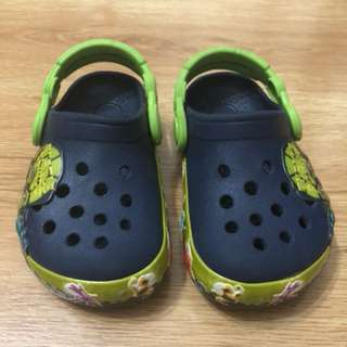 Authentic Crocs Ninja Turtles - Light up for 1 - 2 yo