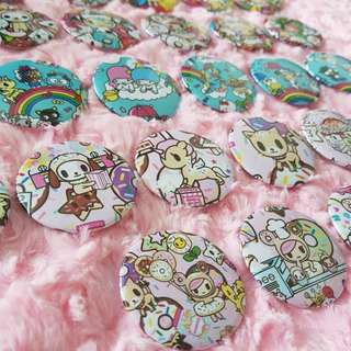 Tokidoki Inspired Badges