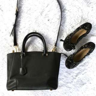 Authentic Charles and Keith Bag with dollshoes