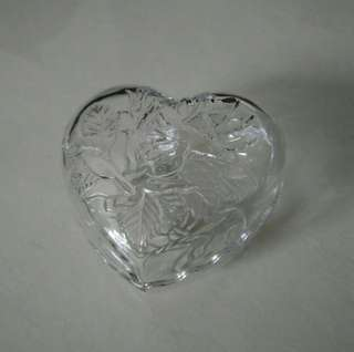 Heart Shape Glass Container Bowl