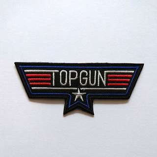 Top Gun Pilot F-14 Fighter Jet Iron On Patch