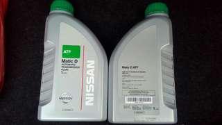 Nissan Matic D ATF oil X 4 litre