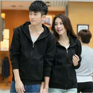 Unisex plain hoodie jacket