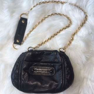 Authentic Juicy Couture Leather Purse with Chain