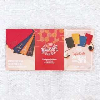 Seattle's Best Coffee Dream Journal 4 regular drink stickers