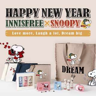 Innisfree x Snoopy Pouch & Tote Bag