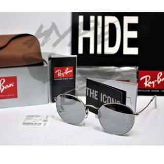 Authentic Ray Ban Round Metal RB3447 019/30 50MM