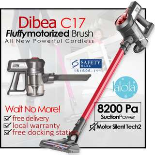 ✔FREE DELIVERY: Dibea C17 Lithium Cordless 2 in 1 Powerful Rage Stick Vacuum Cleaner★ Stocks Arrived