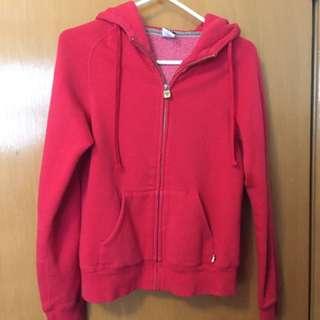 Aritzia TNA red zip up hoodie sweatwr
