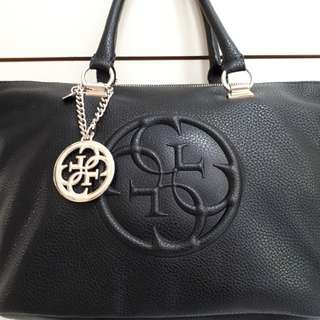 Authentic Guess Leather Tote Bag
