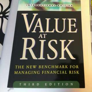 Value at risk (the new benchmark for managing finacial risk)