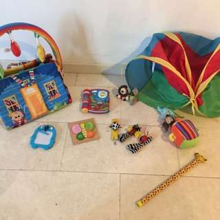 Bundle Of Toys Including Play Mat Tunnel Electric Book