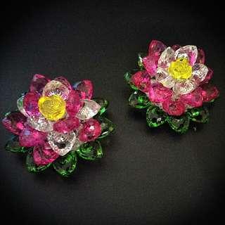 Handmade Colourful Lotus Flower