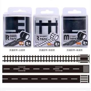MiDeer Kids Play Tape Traffic Road Tape Railway Tape Motorway Tape